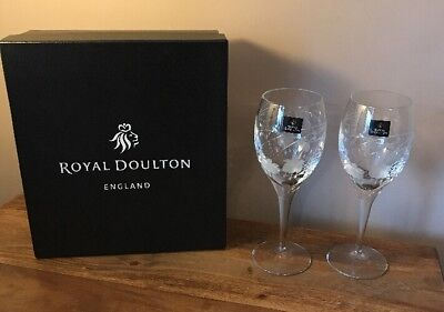 Royal Doulton Crystal Falling Stars Wine Glasses