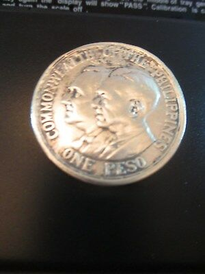 ONE Peso, 1936, Commonwealth, of the Philliphines  Murphy-Quezon