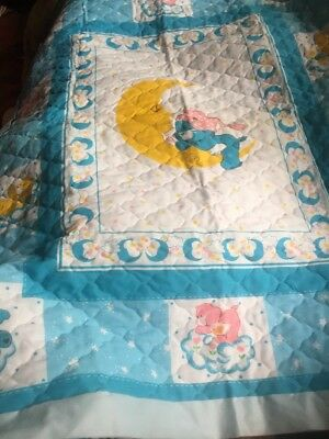Vintage Care Bear Quilted Baby Blanket Kit Never Made