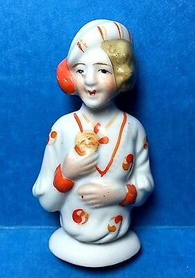 Vintage Porcelain Pin Cushion Half Doll  #17  Free Shipping