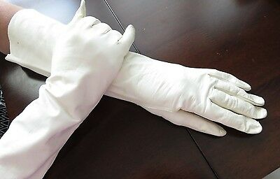 """Very Nice Vintage Usa Zone Germany Aris Kid Leather 14"""" Long Gloves Small 7"""