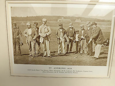 Reproduction Print of a Victorian Framed  Photograph ST. ANDREWS 1856