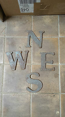 weathervane letters flame cut old stock 6mm best value