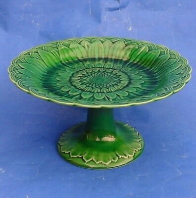 Wedgwood Green Majolica Comport