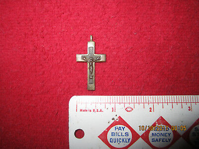 Nice Military Fort Site Brass & Silver Crucifix ( Fort Custer, Montana )