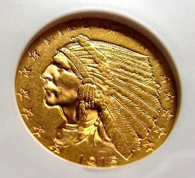 1915-P $2.50 Quarter Eagle Gold Coin, Graded MS61 by NGC!