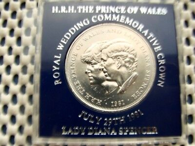Charles & Diana Royal Wedding Crown 1981. TSB presentation case.