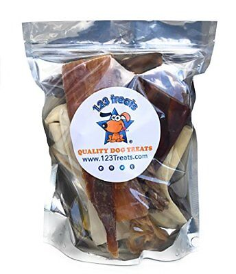 Premium Assorted Dog Chews - 1 Pound or 8 Ounces bags | Delicious Natural Chews