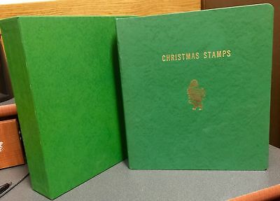 Christmas Topical Stamp Collection, 1969-1971, Nice Binder, Around 60 Pages