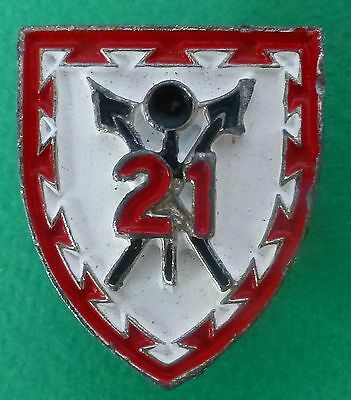 21 BATTALION SOUTH AFRICA ARMY AFRICAN SHiELD SPEAR obsolete 1980's BERET BADGE