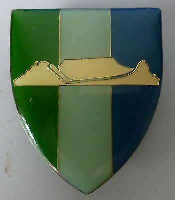 SOUTH AFRICA ARMY WEST CAPE COMMAND SIGNAL UNIT TABLE MOUNTAIN WHITE not sil ARM