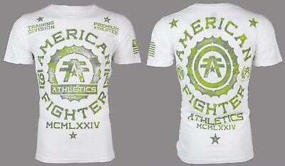 AMERICAN FIGHTER Mens T-Shirt MARYLAND Athletic WHITE Biker Gym MMA UFC $40