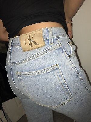 VINTAGE 90s CALVIN KLEIN WOMENS HIGH WAISTED TAPERED MOM JEANS W31 L28