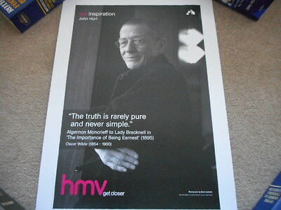 JOHN HURT My Inspiration HMV Lithographic Numbered Print Ltd to 1000 only MINT