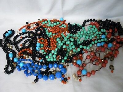 Lot of vintage beads; mixed types