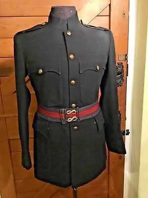 Post ww1 1936 named  Royal Corps of Signals Blue Tunic Patrol Jacket museum