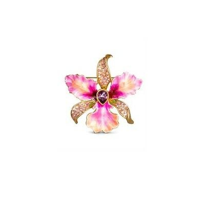 Jay Strongwater Clarice Large Orchid Brooch