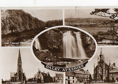 Vintage Real Photo Dalry, Ayrshire  Multi-View Postcard  Valentine's Posted 1953