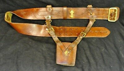 "ORIGINAL 1940s WW11 ARMY  ""SAM BROWN"" BROWN LEATHER BELT in very nice condt"