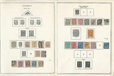 Columbia Collection 1859-1972 on 100 Minkus Specialty Pages, Includes States