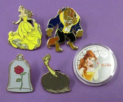 Disney Trading Pins Mixed Lot- Beauty Beast Booster Set Belle Beast Rose MMT#X70