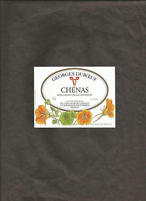 CHENAS GEORGES DUBOEUF 75 cl WINE BOTTLE LABEL