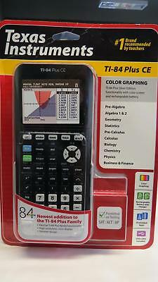 NEW Texas Instruments TI-84 Plus CE Color Screen Graphing Calculator Black