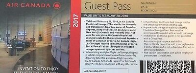 Air Canada Maple Leaf Lounge Pass 2017-2018
