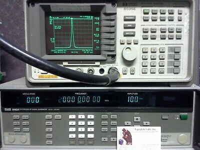 FLUKE 6062A Synthesized Signal Generator  WORKS GREAT 100 KHZ -2100 MHz  opt 132