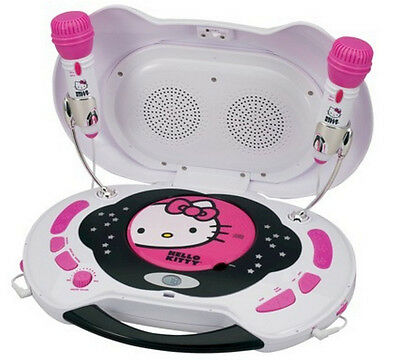 Hello Kitty CD Player and Karaoke System KT2003 2 Microphones NEW