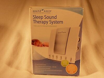 Sound Oasis Sleep Sound Therapy System S-550-05