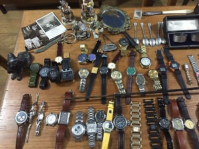JOB Lot Designer Watches Jewellery Bronze Medals Bayonet Silver Gold Pens L@@K