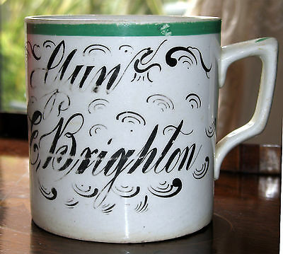 Antique : Early 19th century large Christening Mug - E Brighton