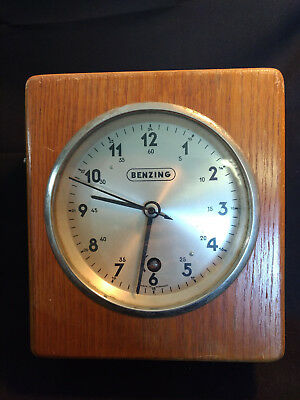Wood BENZING Timer Clock Made In Germany W Dove Tail Design