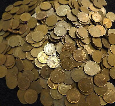 1.74 kg.JOBLOT OF OLD DECIMAL  1/2P HALF PENNY COINS - 1971 to 1984..APPROX 970