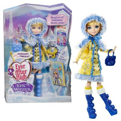 Neuer Ever After High Epic Winter Blondie Lockes Puppe & Ring Offizielles