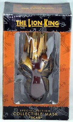 Disney The Lion King Special Edition Collectible Mask/Ornament SCAR NIB