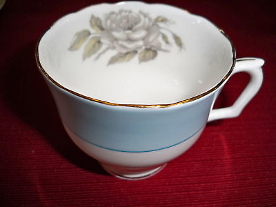 Crown Staffordshire Gray Blossoms Cup