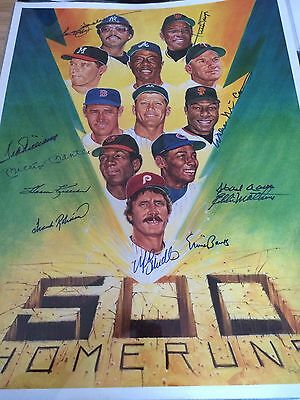 500 HOME RUN CLUB autograph /signed litho Mantle/Mays/Aaron +8 AU40913
