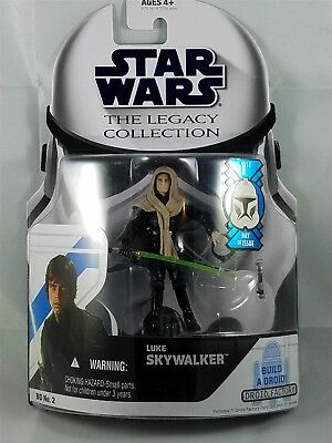 Star Wars Legacy Collection Luke Skywalker w/ Build a Droid NIP