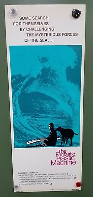 "~1969 THE FANTASTIC PLASTIC MACHINE Insert Poster 14x36"" SURFING DOCUMENTARY"