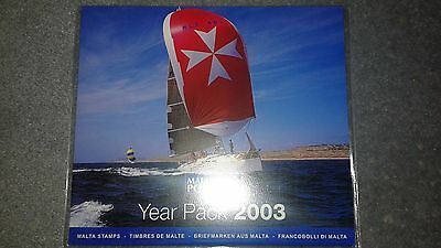 Malta Post Year Pack 2003 MNH Sets, Mini Sheets and Souvenir Sheets