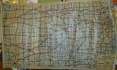 Rock Island Railroad 1959 Map of Kansas  -   roughly 25x44""