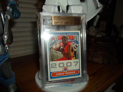 James Harden 2007 McDonald's Topps Houston Rockets Rookie Card BGS 9.5