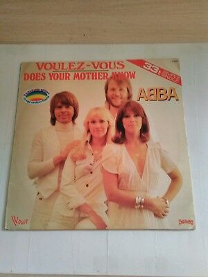 Abba voulez vous does you're mama know  rare red vinyl on French black vogue