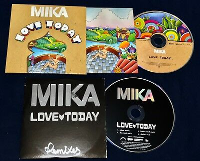 Very Rare Cd Set 2 Singles Mika Love Today (Radio) / Love Today Remixes Limited