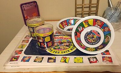 "Vtg 2 SETS Kellogg's 1996 ""The Best to You Each Morning""  Bowls Cups & Placemats"