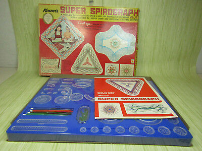 Vintage 1969 Kenner's Super Spirograph No. 2400 Drawing Kit