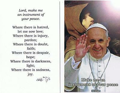 prayercard plastified with Pope francois card, carte plastifier du pape