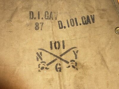 ww 1  canvas cavalry  marked   breech   cover  for  1903   Springfield